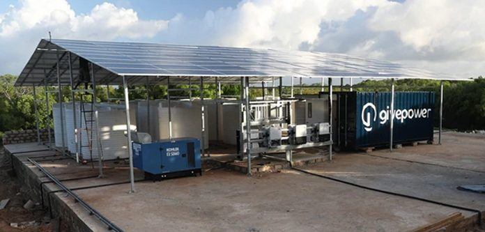 GivePower solar-powered desalination plant turning salt water to drinking water in Kenya