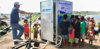 ​Planet Water ​AquaBlock ​located in a ​relocation camp ​in Lombok, ​Indonesia
