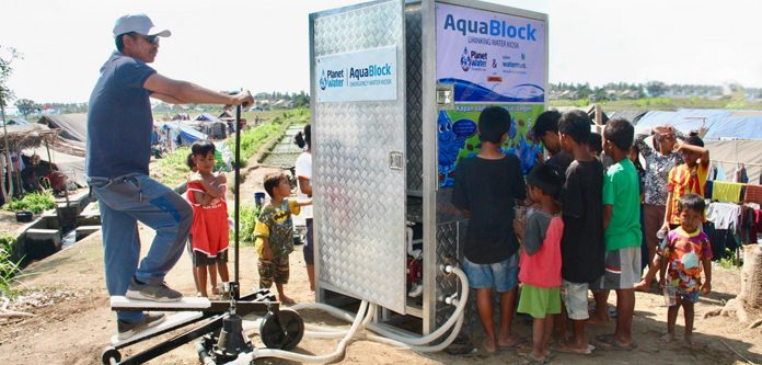 Planet Water AquaBlock located in a relocation camp in Lombok, Indonesia